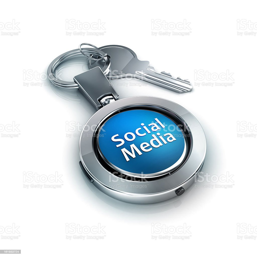 social media password and security protection stock photo