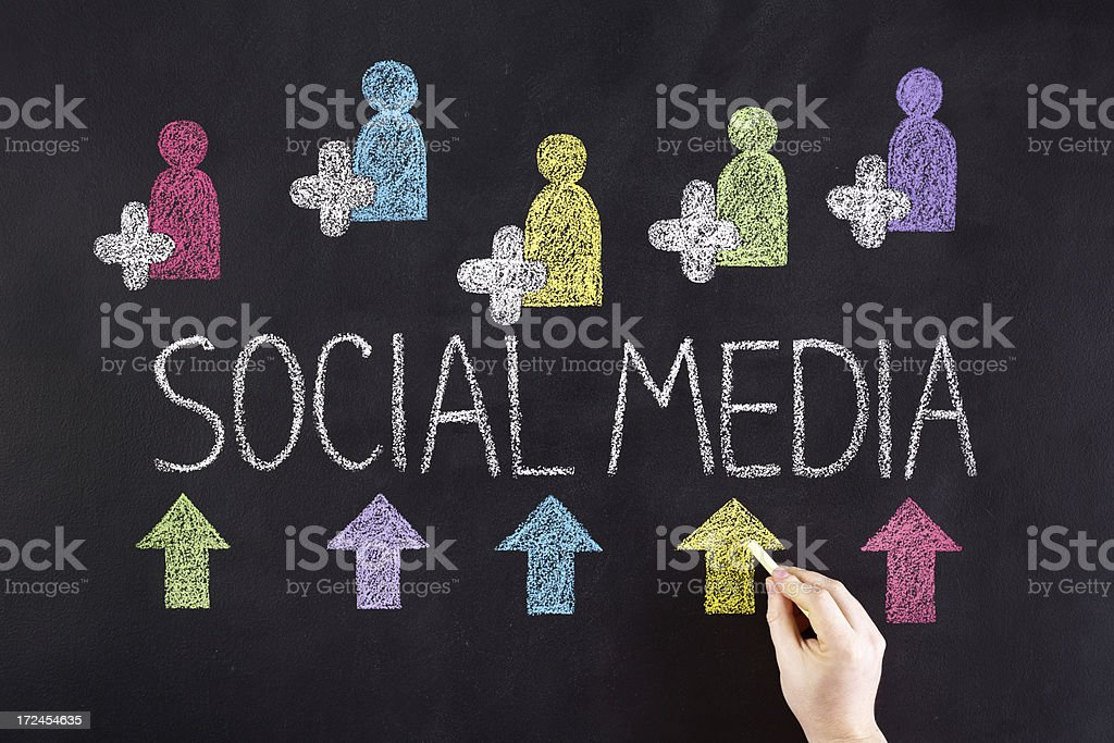 Social media royalty-free stock photo