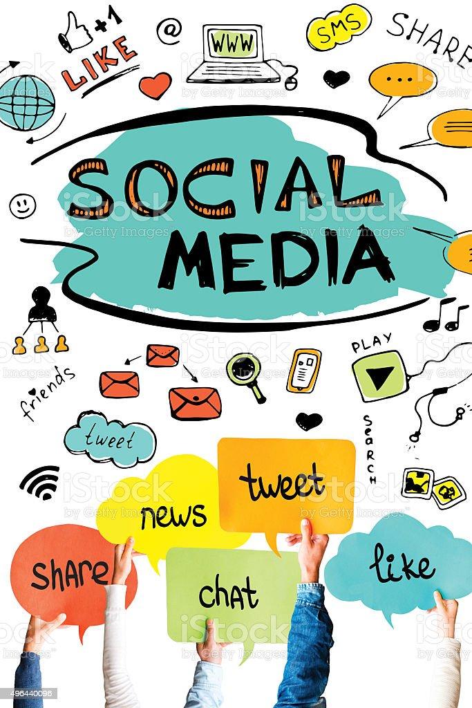 Social media. stock photo