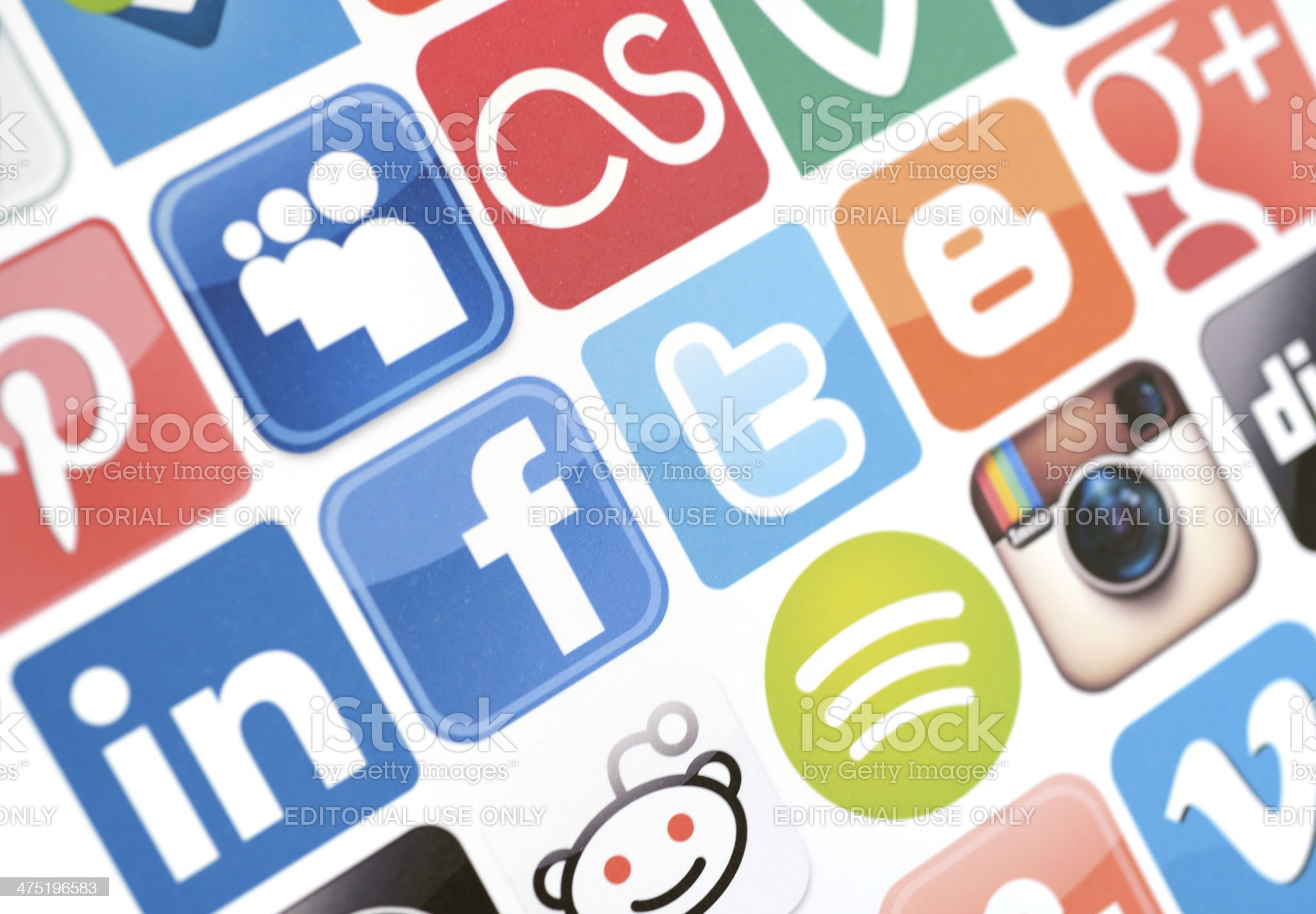 Social Media services icons royalty-free stock photo