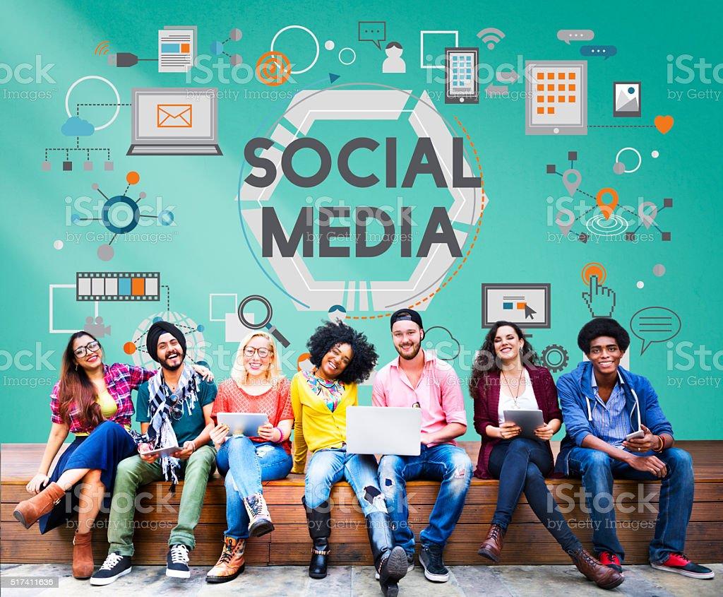 Social Media Social Networking Technology Innovation Concept stock photo