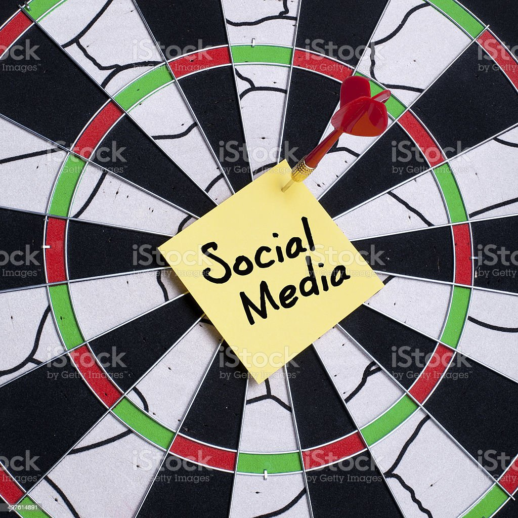 Social Media Targeted royalty-free stock photo