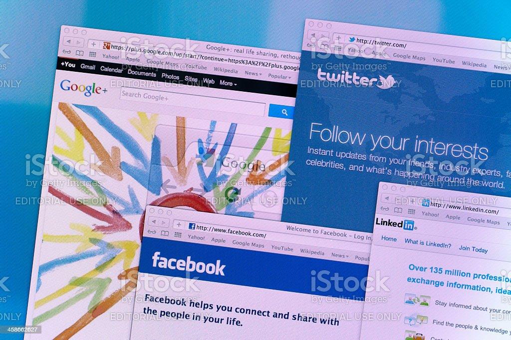 Social Media Web Sites royalty-free stock photo