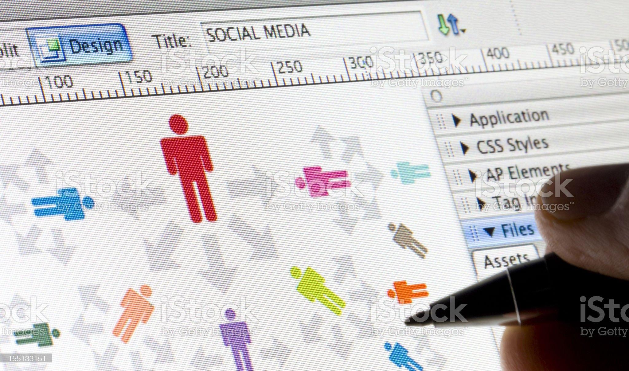 Social Media: Web Software royalty-free stock photo