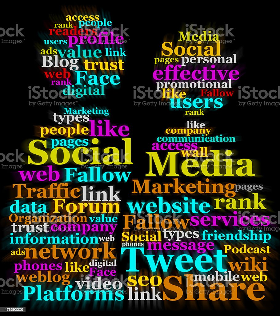 Social Media wordclouds stock photo