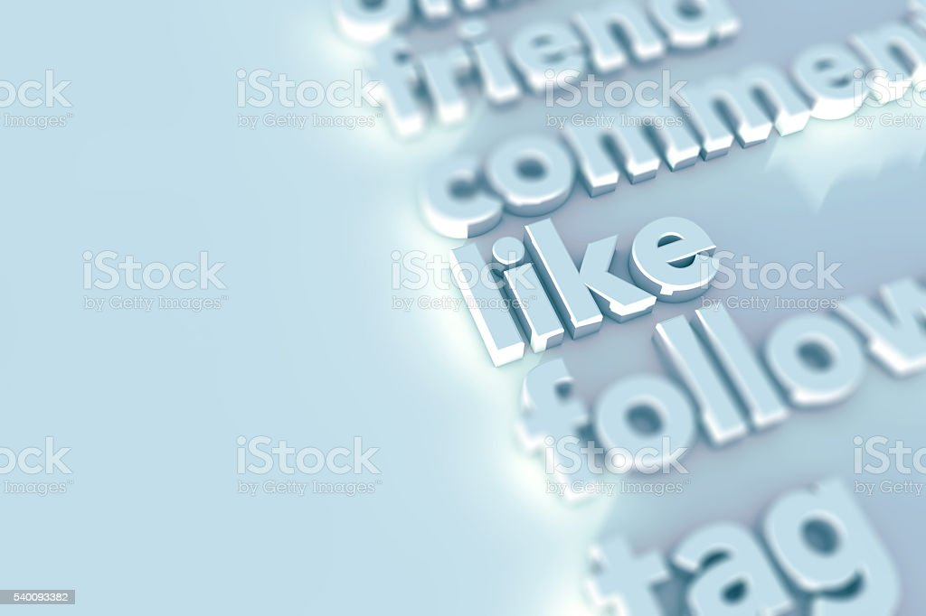 Social media words background stock photo