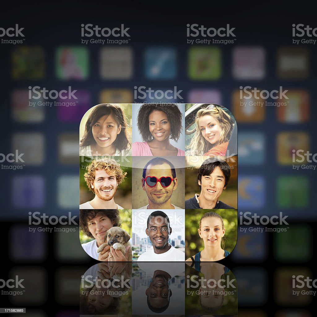 Social Network App Icon stock photo