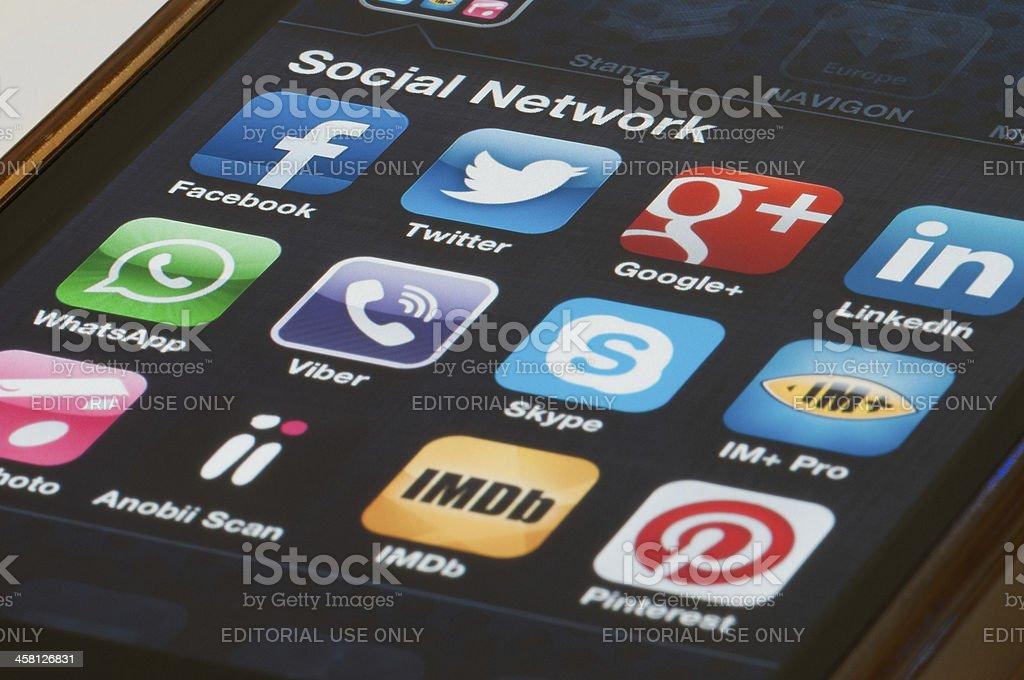 Social Network Application royalty-free stock photo
