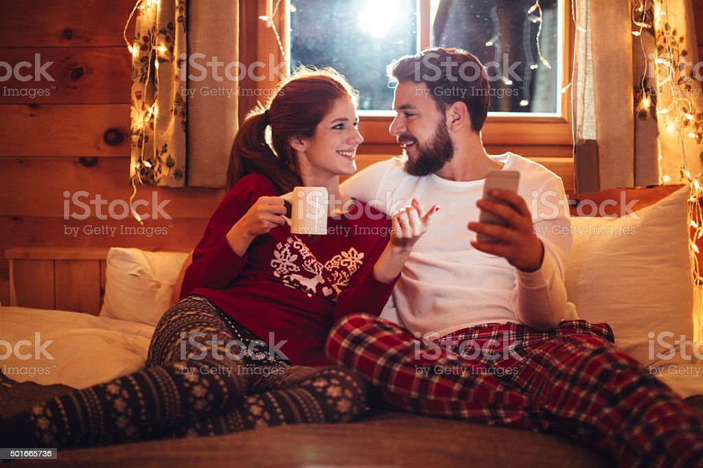 Social network checking stock photo