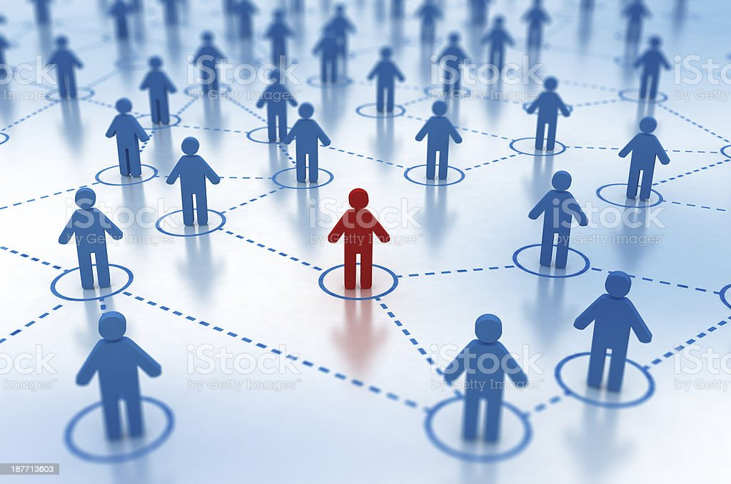 Social Network concept - individual in focus stock photo