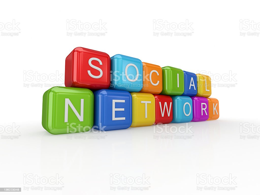 Social network concept. royalty-free stock photo