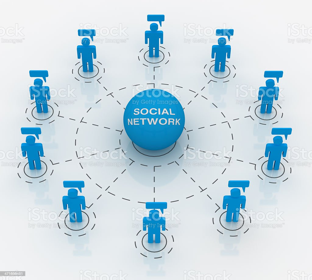social network Concepts stock photo