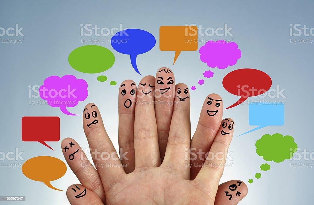 Social network family stock photo