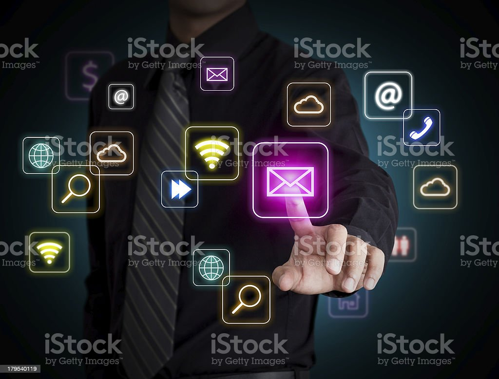 Social network icon royalty-free stock photo