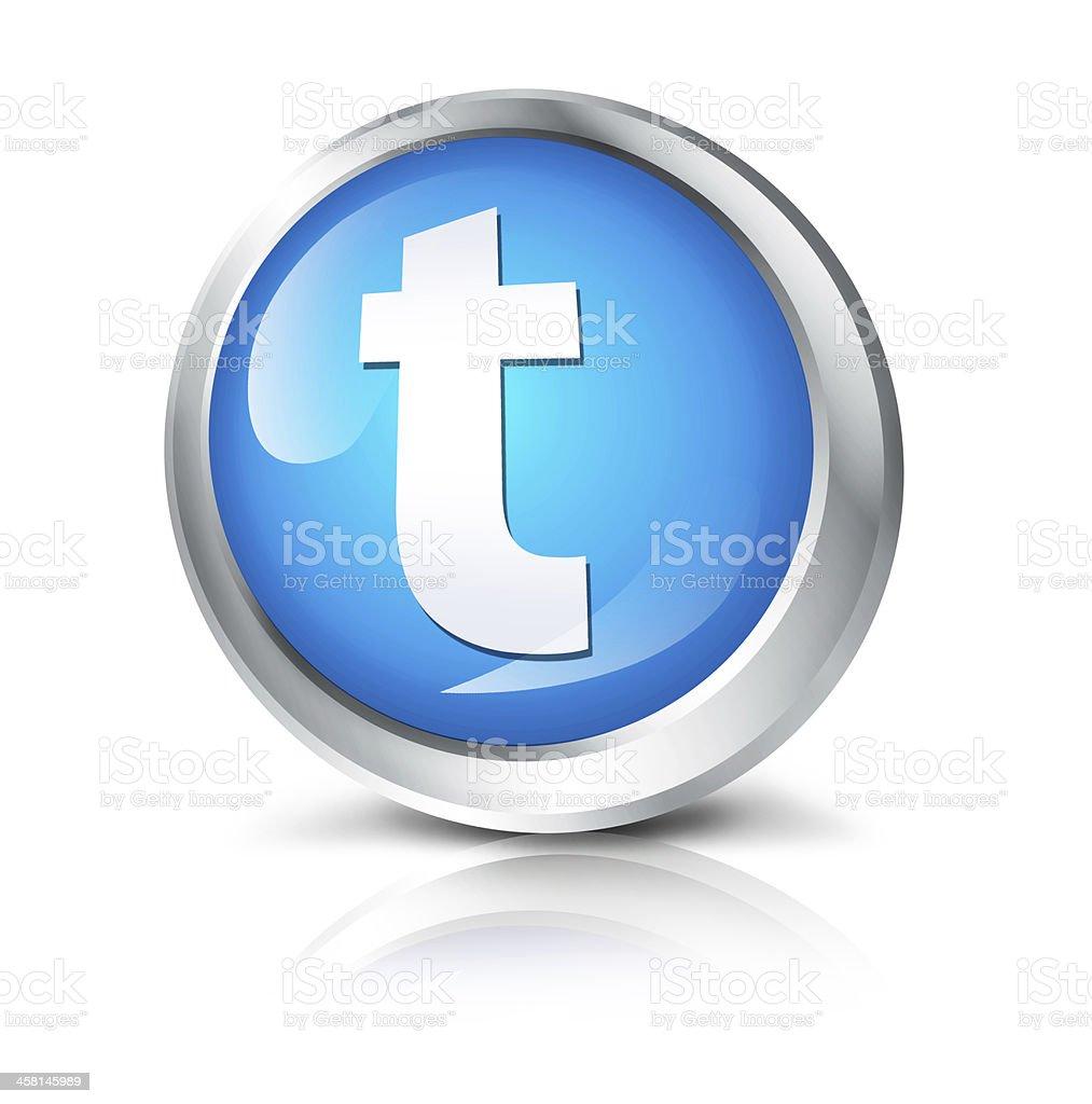 Social network icon stock photo