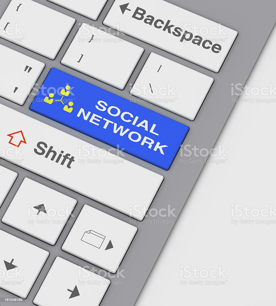 social network key concept royalty-free stock photo