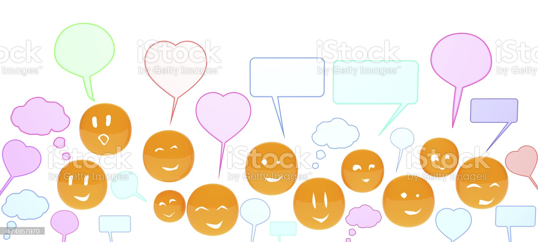 Social Network of people royalty-free stock vector art