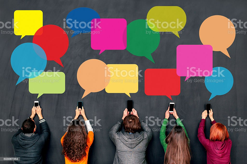 Social network people concept stock photo