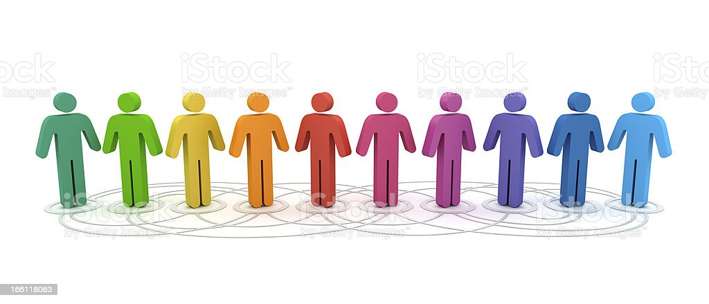Social Network People royalty-free stock photo
