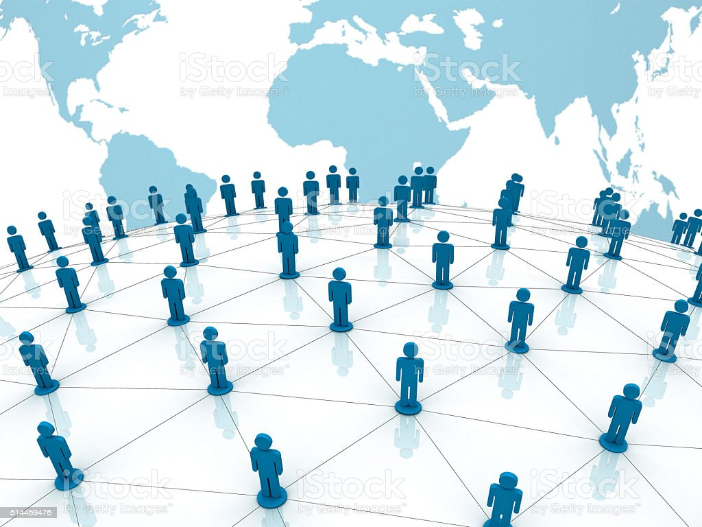 Social network people stock photo