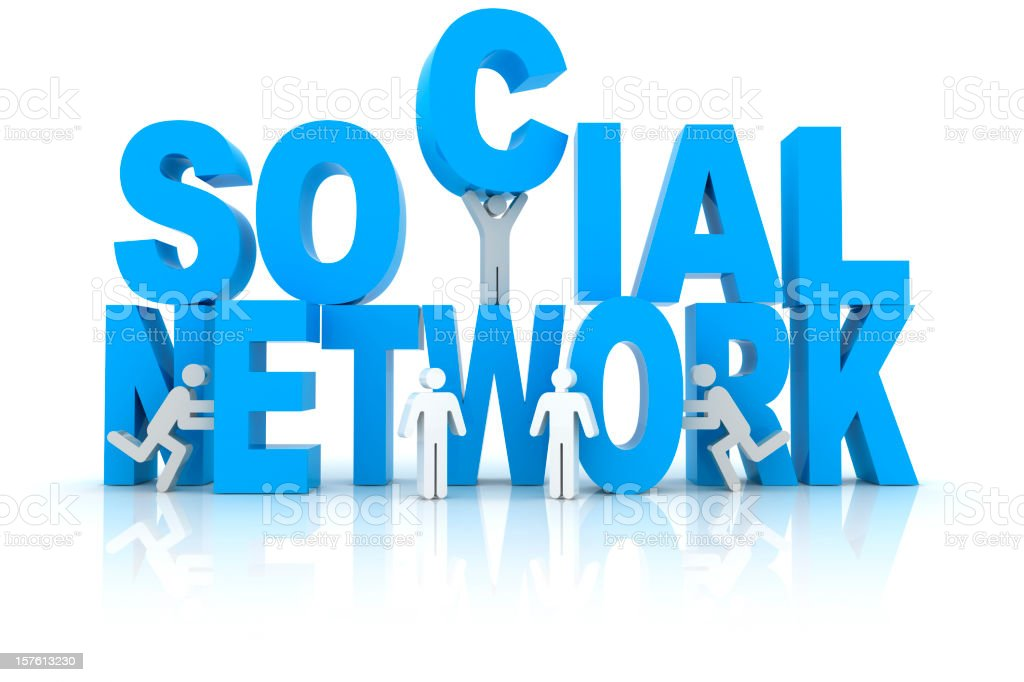 Social Network royalty-free stock photo
