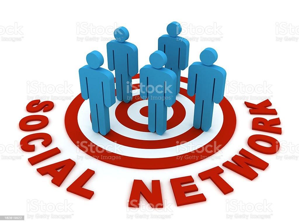 Social Network royalty-free stock photo