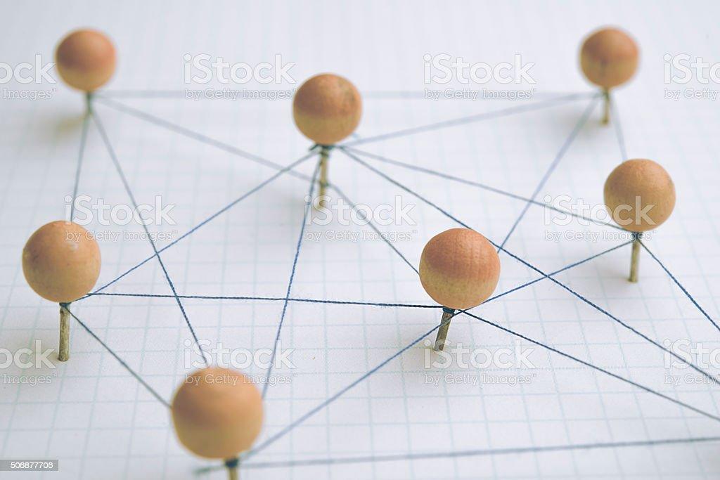 Social network stock photo