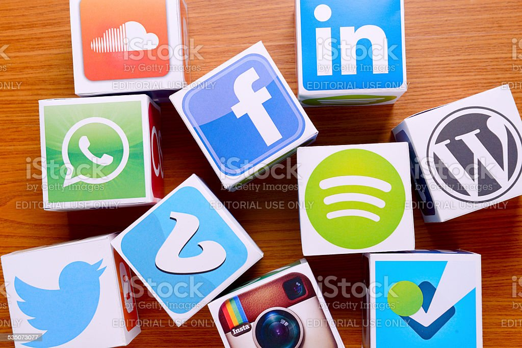 Social network services stock photo