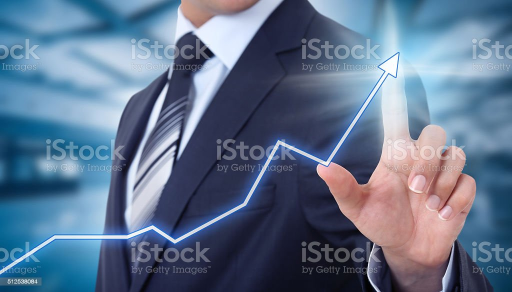 social network touchscreen  - Stock Image stock photo