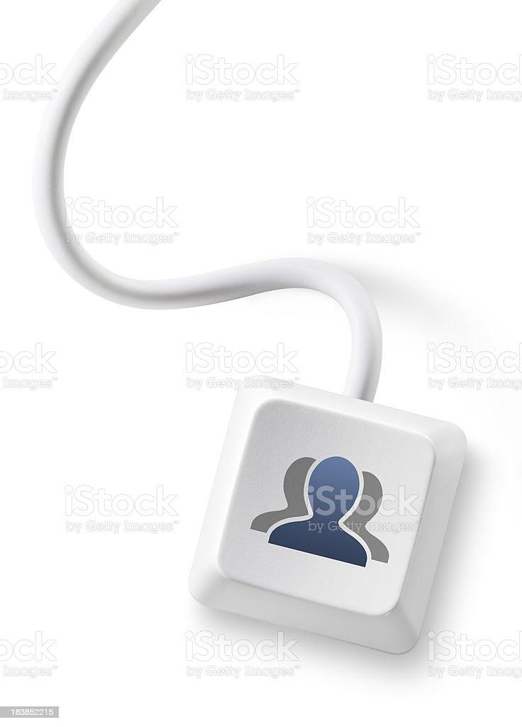 Social network users key. royalty-free stock photo
