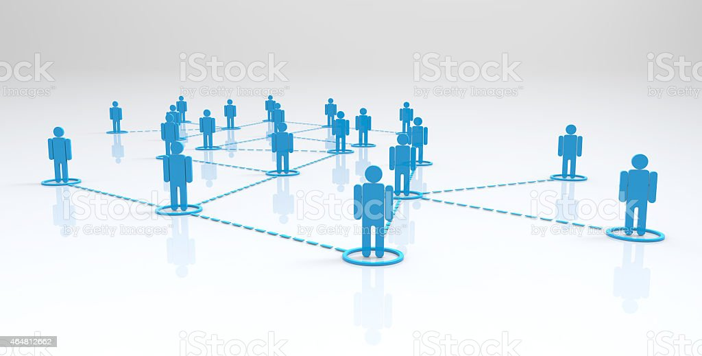social network-3d concept stock photo