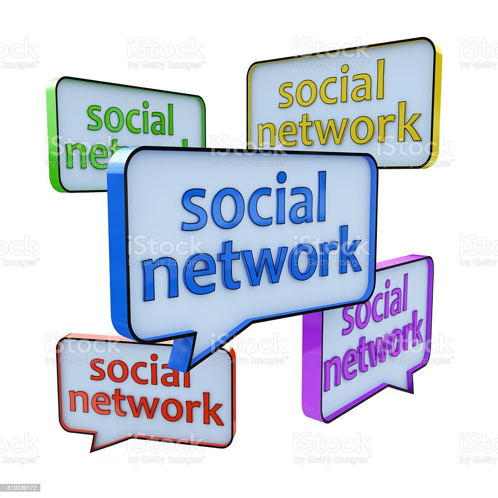 Social networking and chat concept stock photo