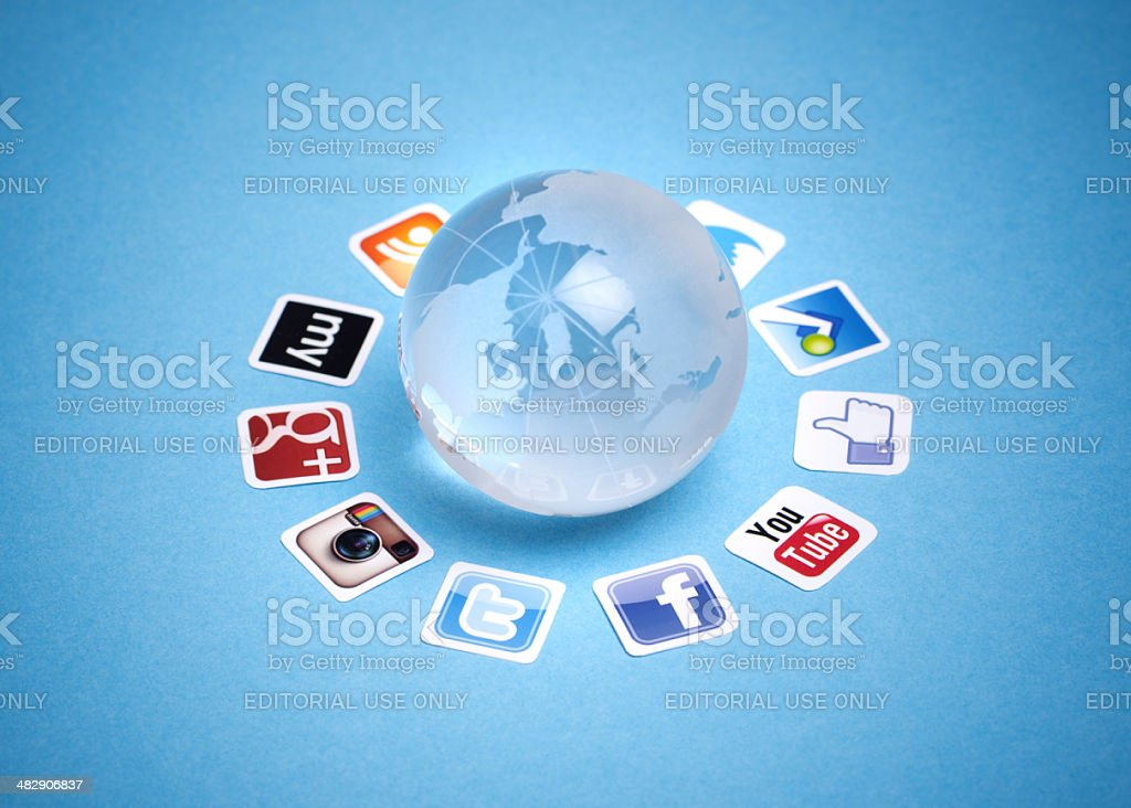 Social networking communication stock photo