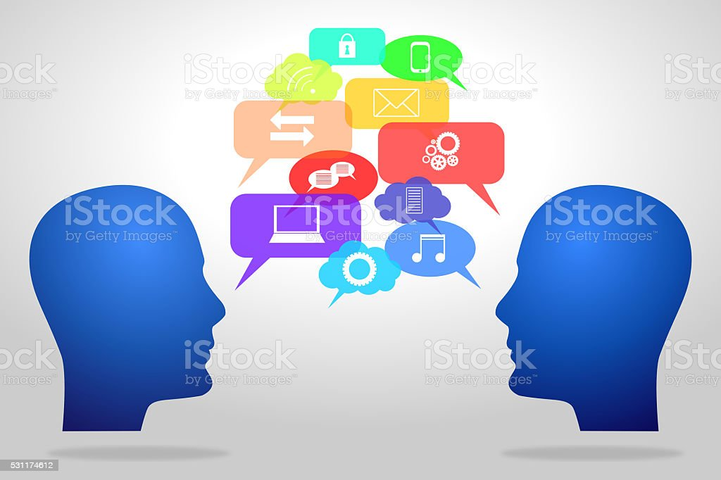 Social networking concept stock photo