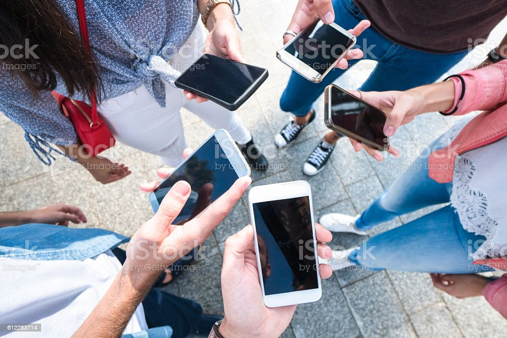 social networking friends stock photo