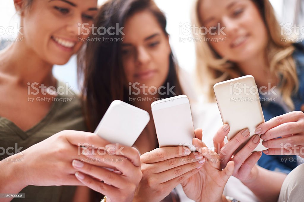 Social networking make life more interesting stock photo