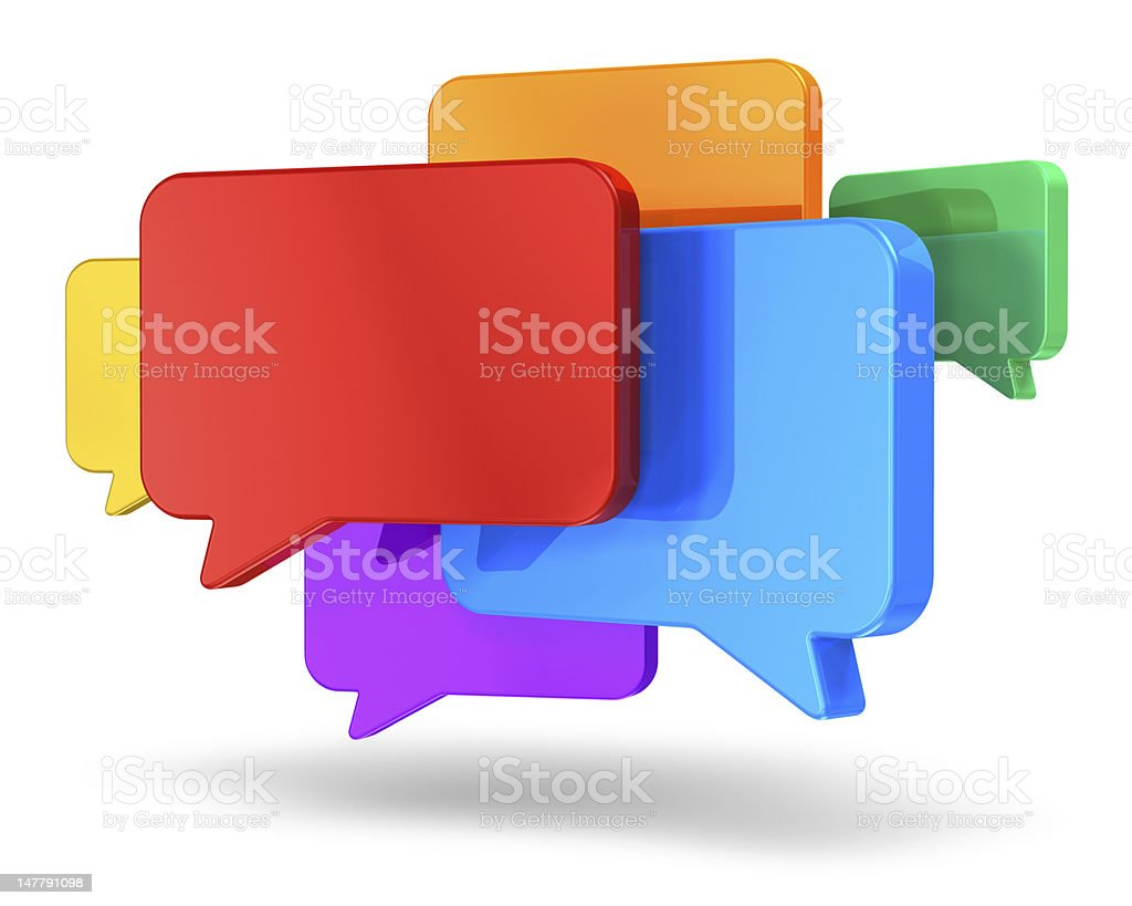 Social networking media, chat, messaging and communication concept stock photo