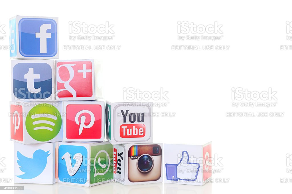 Social networking services stock photo
