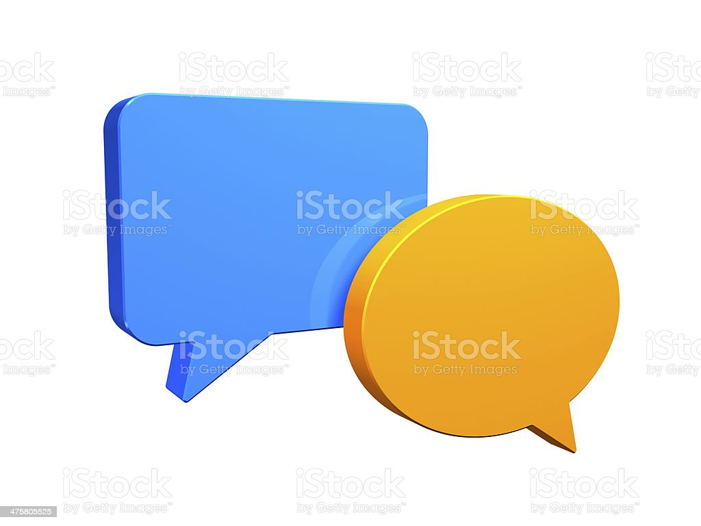 Social networking. Speech Bubble concept stock photo