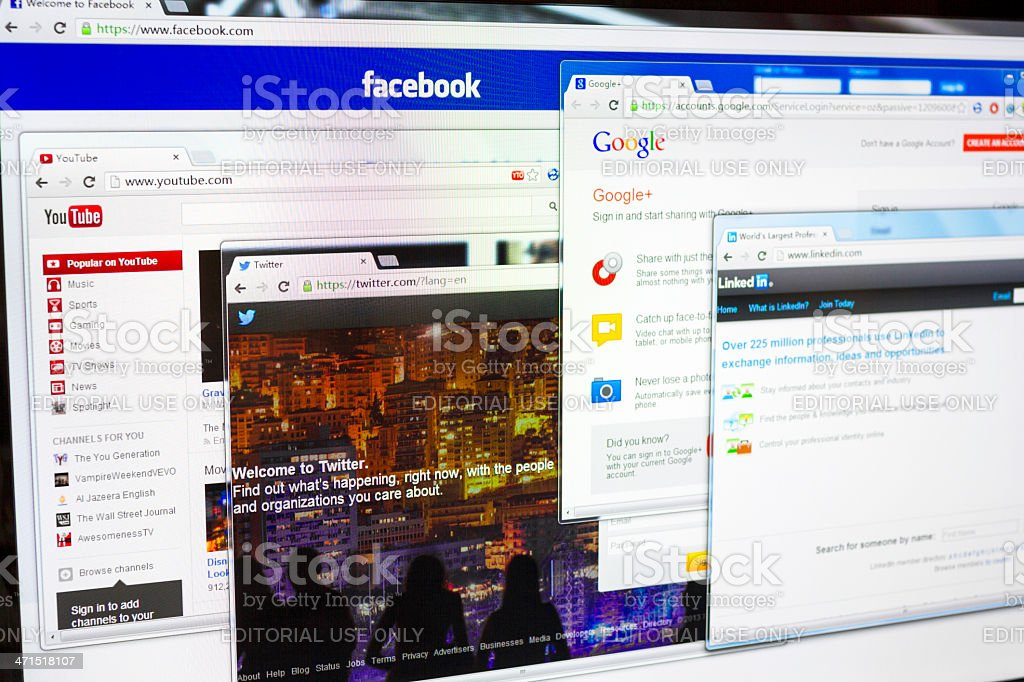 Social Networking Websites royalty-free stock photo