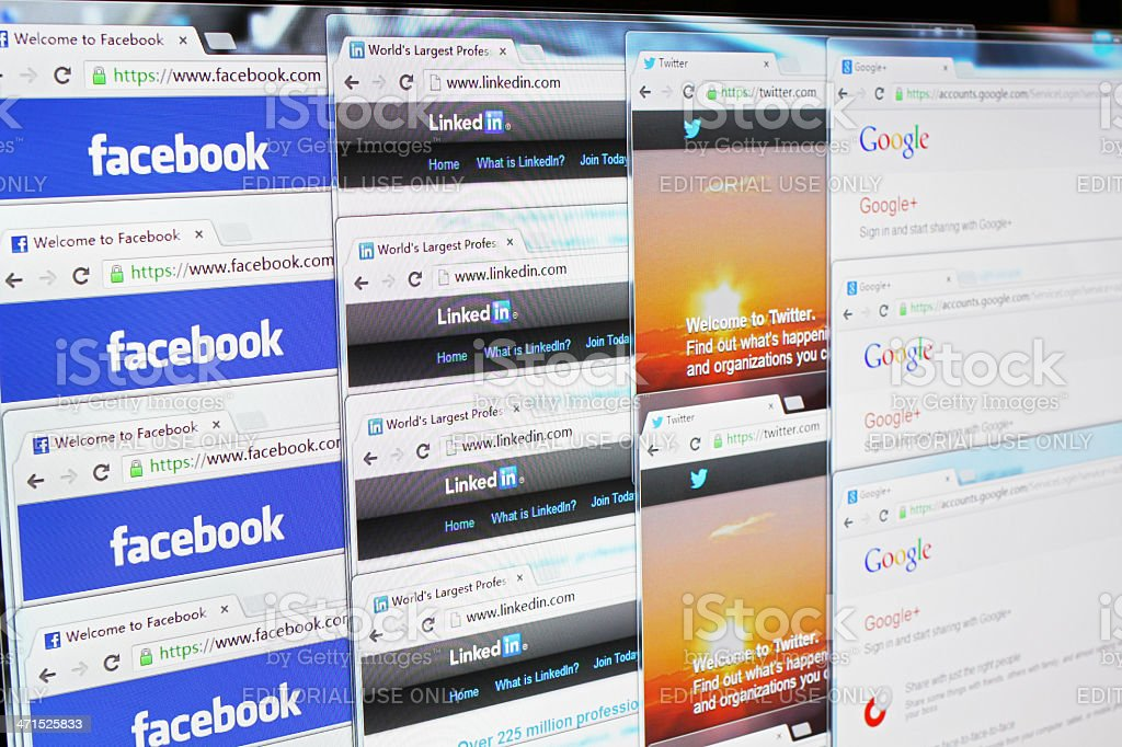 Social Networking Websites stock photo