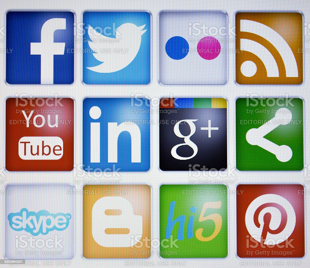 social networks stock photo