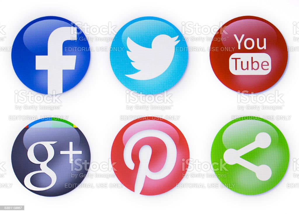 social networks stock photo