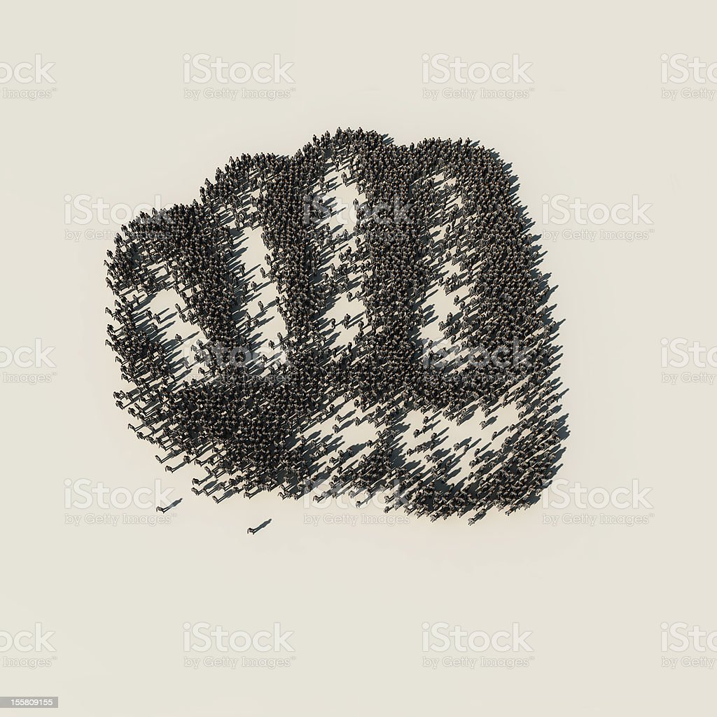social protest royalty-free stock photo