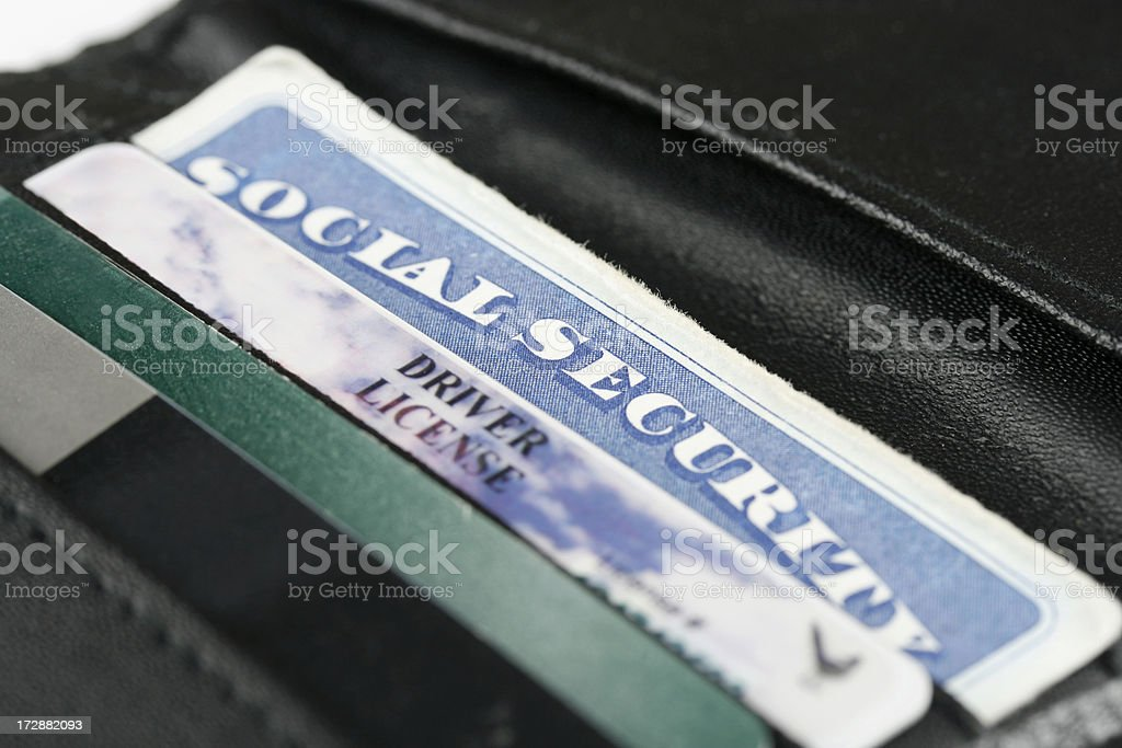 Social Security & I.D. Cards stock photo