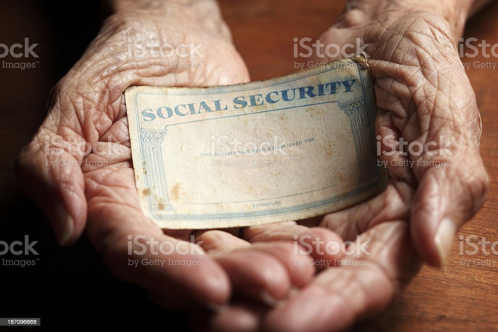 Social Security Card stock photo