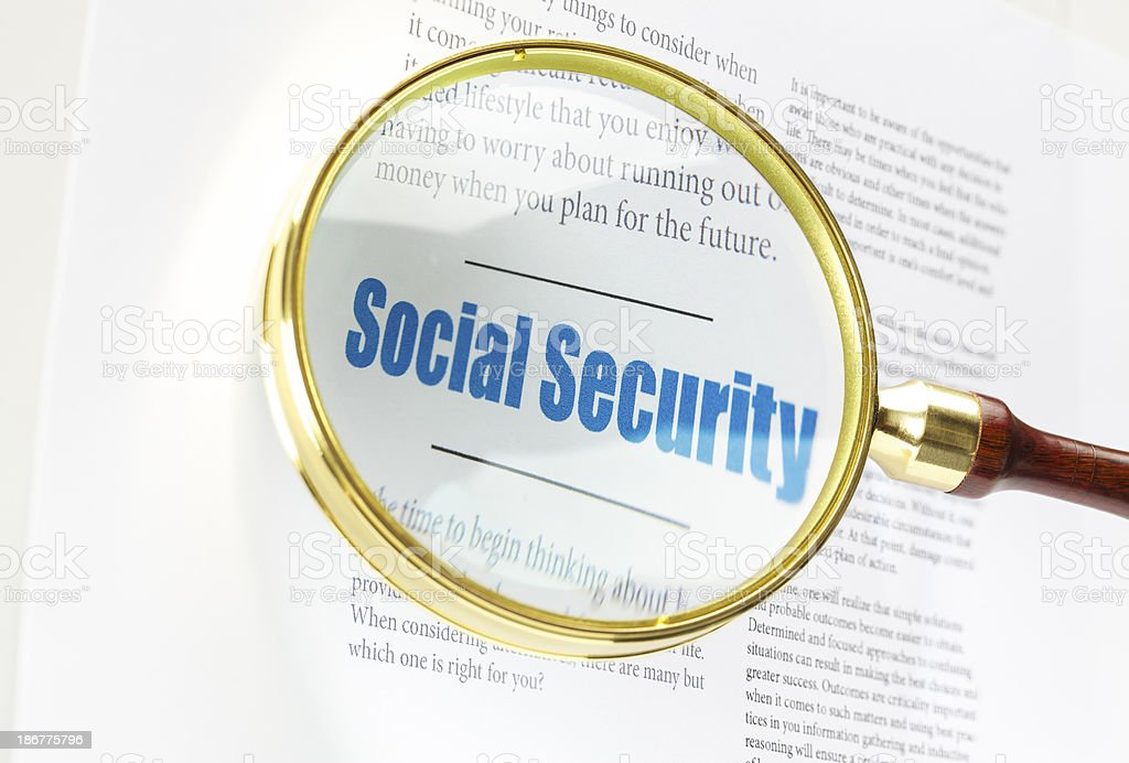 Social Security stock photo