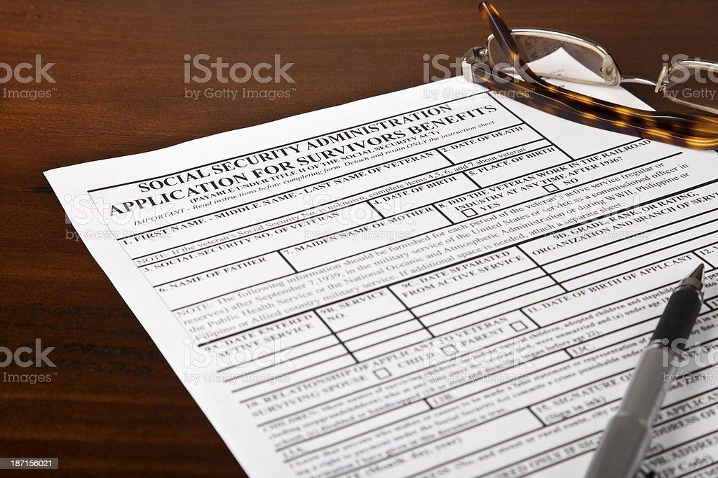 Social Security Survivors Benefits stock photo
