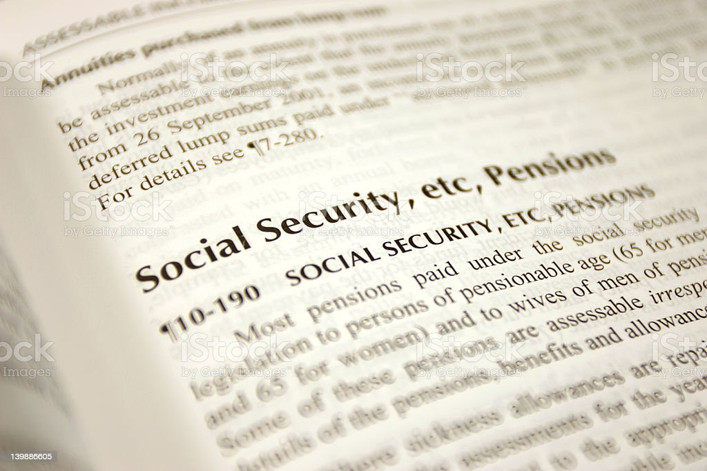 Social Security Title royalty-free stock photo