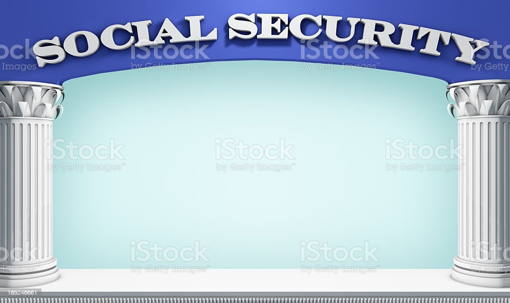 Social Serurity Stage stock photo